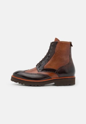MATTHEW 43 - Lace-up ankle boots - mogano