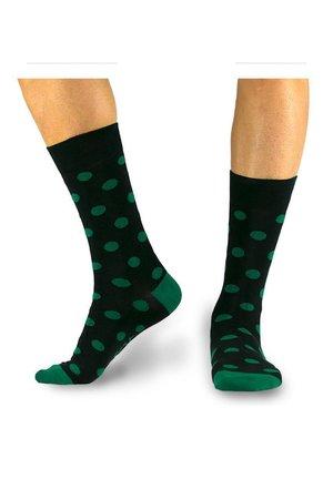 GEPUNKTETE SOCKEN - Socks - black / green