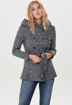 Classic coat - medium grey melange