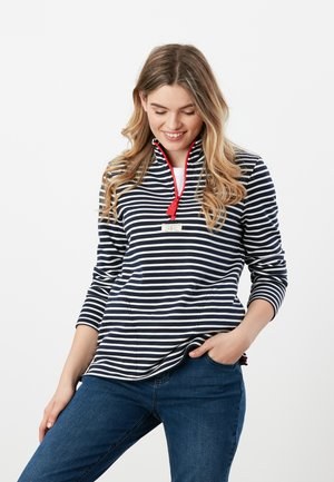 PIP - Camiseta de manga larga - cremefarben marineblau streifen