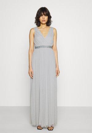 Společenské šaty - dusty blue