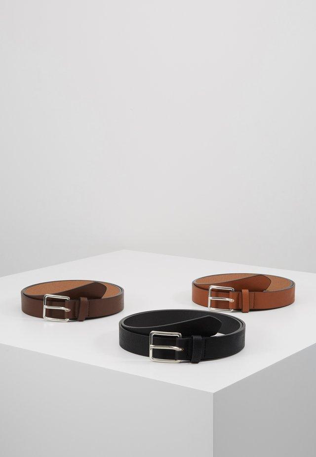 3 PACK - Belt - cognac/black/brown