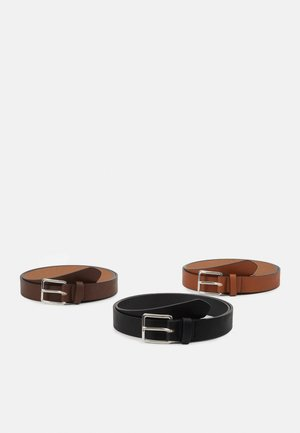 3 PACK - Cintura - cognac/black/brown