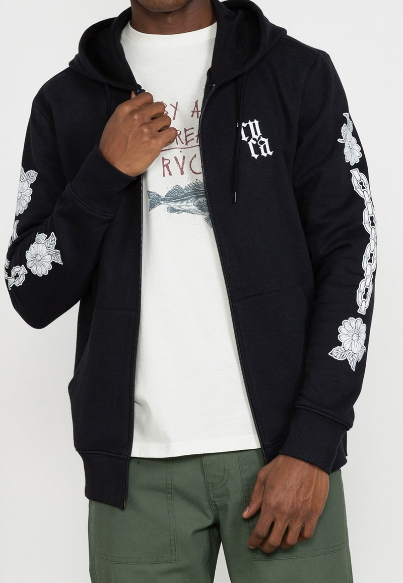 RVCA - BENJAMIN - Zip-up sweatshirt - black