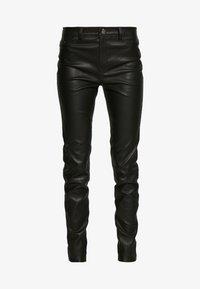 KARL LAGERFELD - LEATHER BIKER PANTS - Pantalón de cuero - black - 3