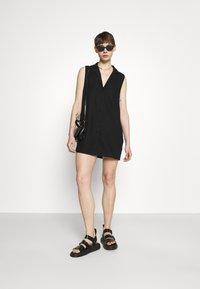 Cotton On - VICKY VEST DRESS - Vestido camisero - black - 1