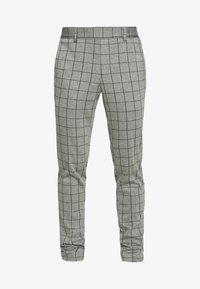 ONSELIAS GRID PANTS - Trousers - light grey melange