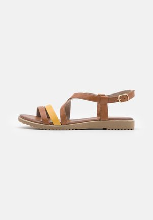 Sandals - cognac/platin