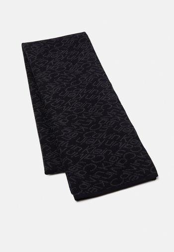ZIG ZAG SCARF UNISEX - Sjal - black