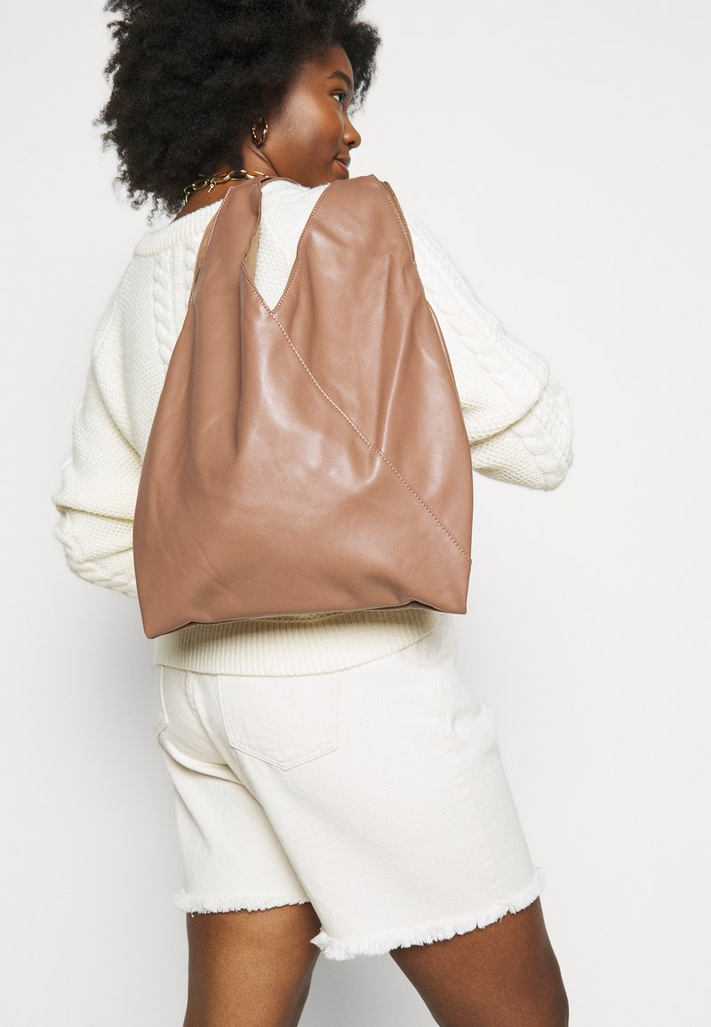 Pieces - PCFORIANNE SHOPPER  - Tote bag - beige