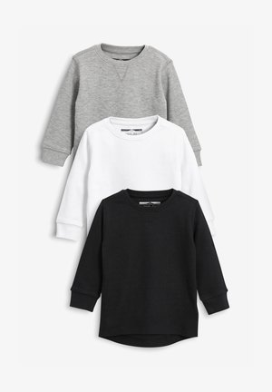 THREE PACK - T-shirt à manches longues - black
