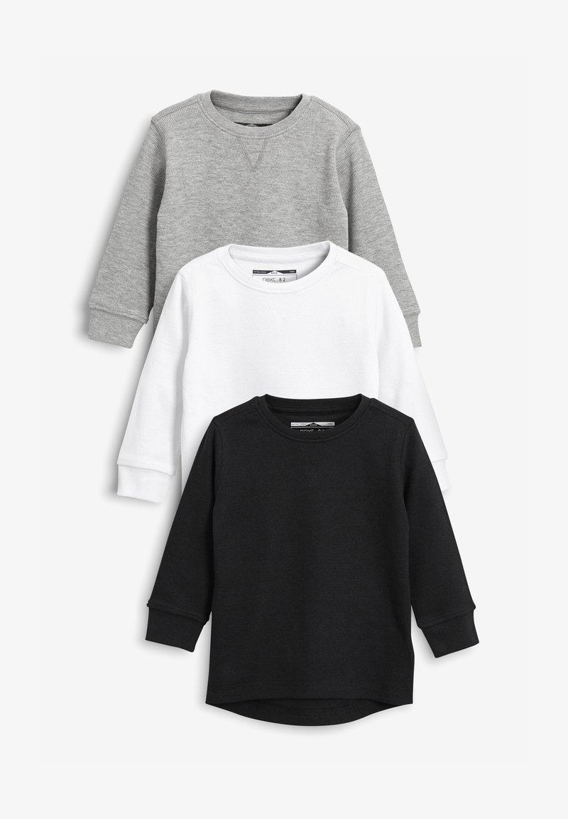 Next - THREE PACK - Long sleeved top - black