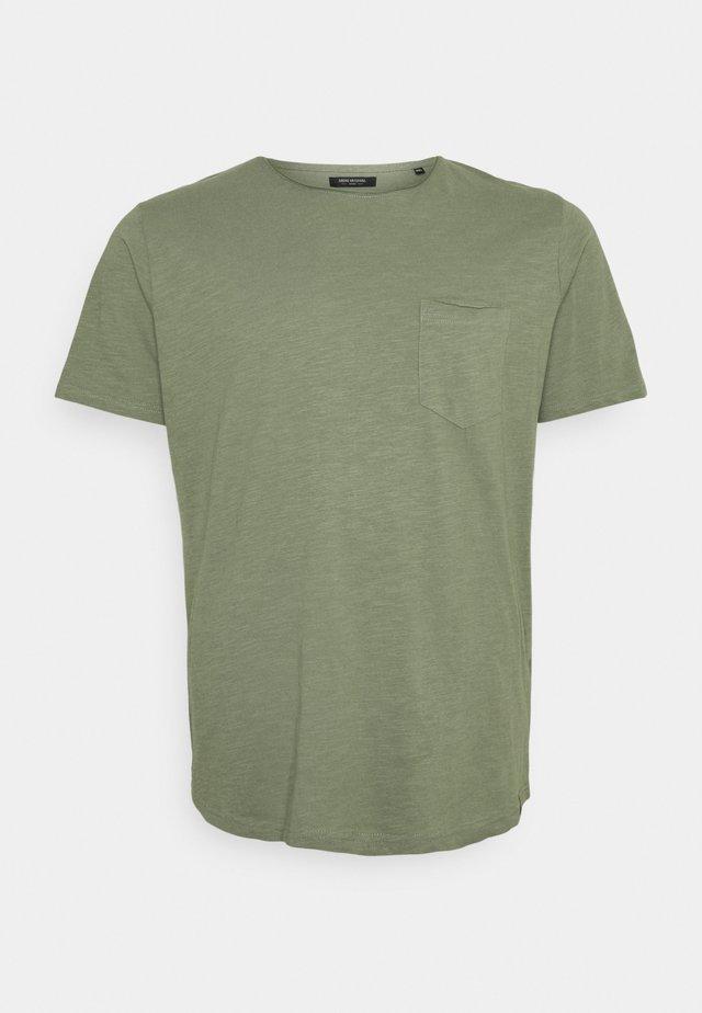 RAW EDGE SLUB TEE - Basic T-shirt - dusty army