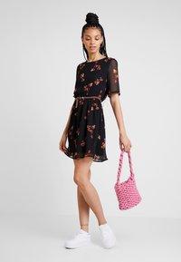 Vero Moda - VMCARINA BELT SHORT DRESS - Day dress - black - 1