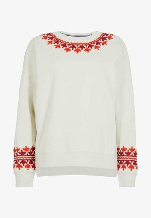 JASMINE  - Sweatshirt - naturweiß/stickerei