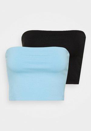 ADDILYN TUBE 2 PACK - Toppe - black/light blue