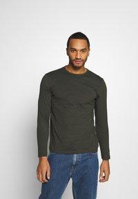 Burton Menswear London - LONG SLEEVE CREW 2 PACK  - Maglietta a manica lunga - charcoal - 1