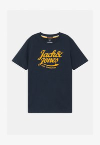 Jack & Jones Junior - JORLARS CREW NECK - Print T-shirt - navy blazer - 0