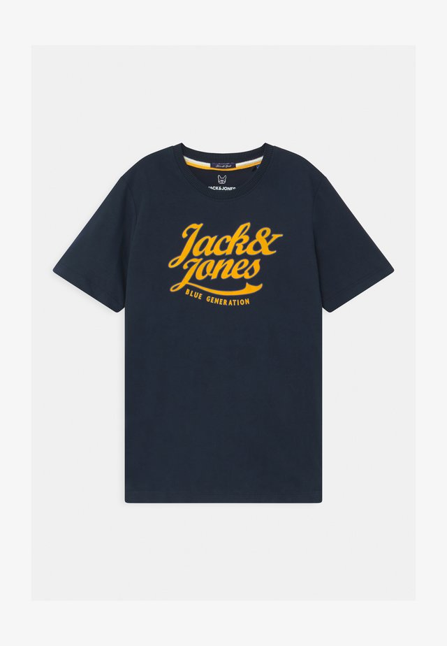 JORLARS CREW NECK - T-shirts med print - navy blazer