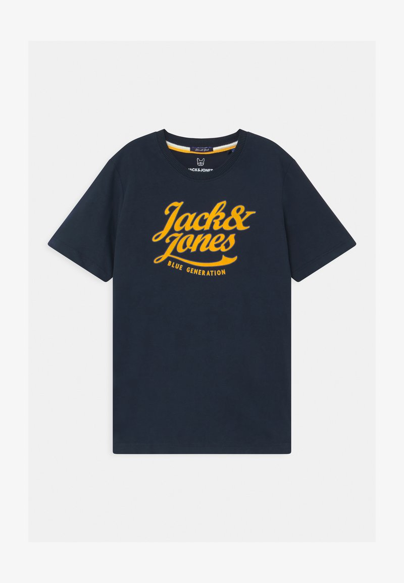 Jack & Jones Junior - JORLARS CREW NECK - Print T-shirt - navy blazer