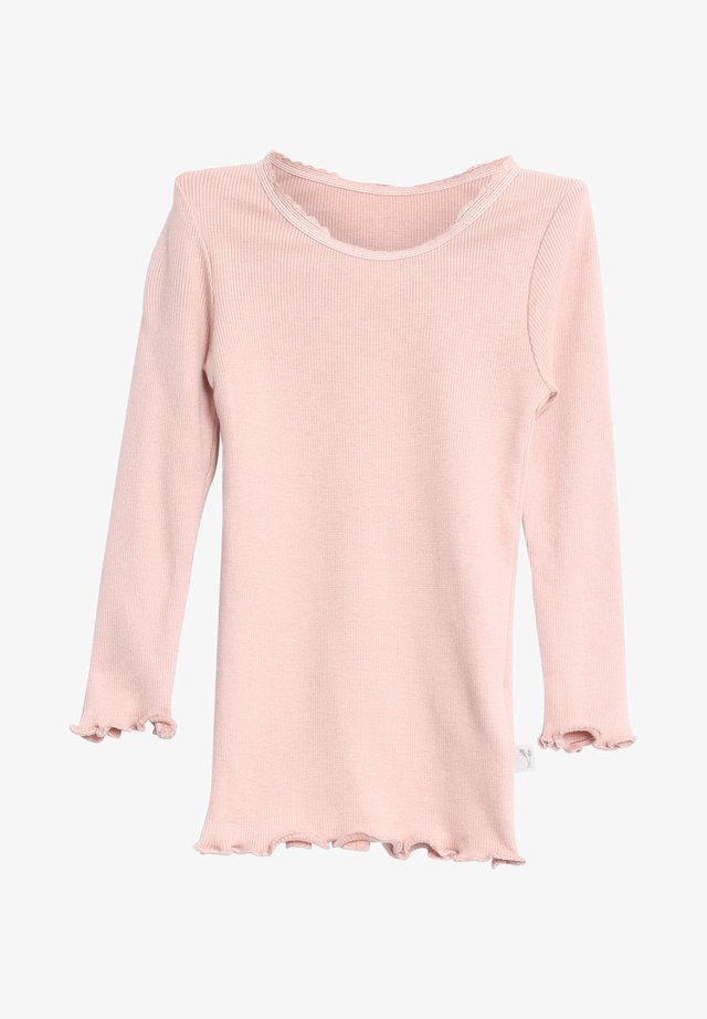 Long sleeved top - rose powder