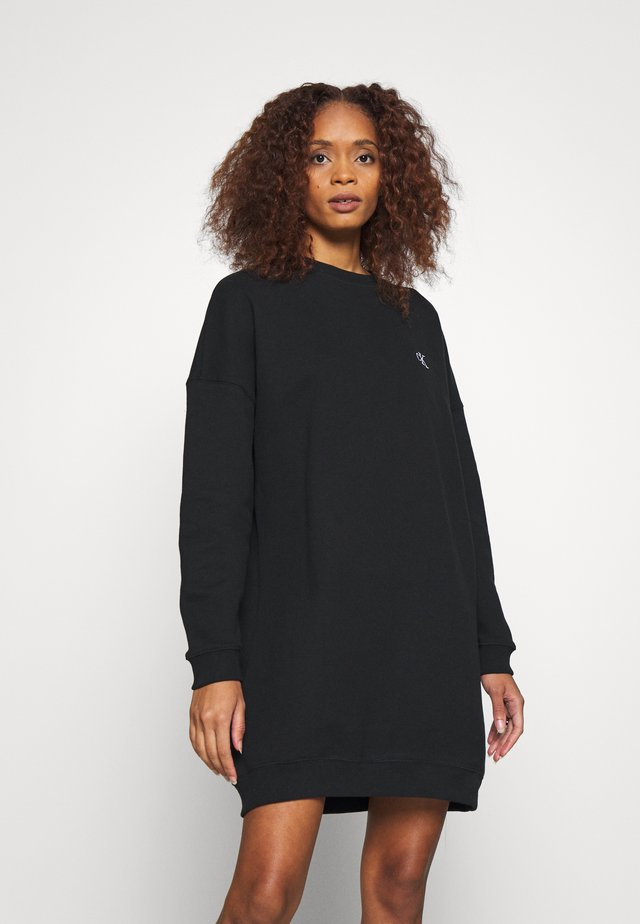 DRESS WITH CHEST LOGO - Day dress - black
