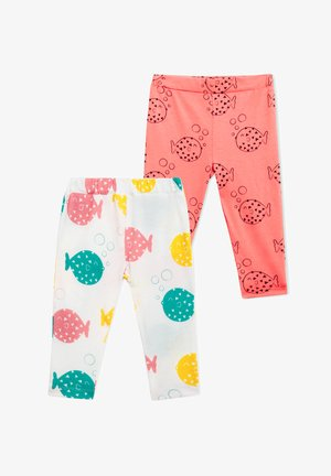 2 PACK FINDING FUGU - Leggings - Trousers - white coral