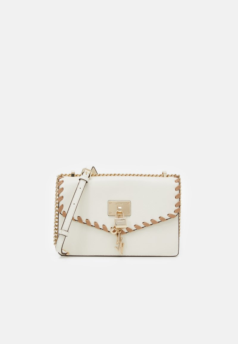 DKNY - ELISSA SHOULDER FLAP - Across body bag - white/sand castle