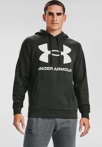 Under Armour - RIVAL  - Hoodie - baroque green - 0