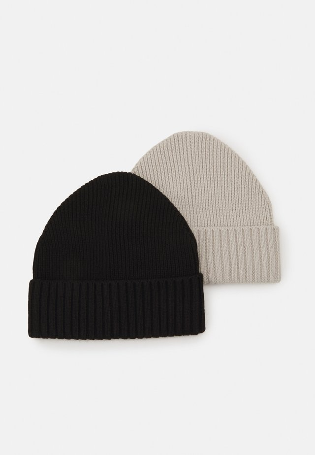 2 PACK - Bonnet - black/grey