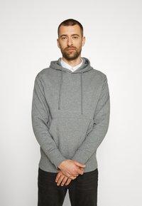 Selected Homme - JACKSON HOOD - Hoodie - medium grey melange - 0