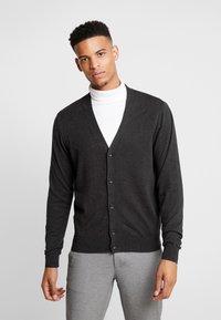 Burton Menswear London - CORE CARDIGAN - Kardigan - dark grey - 0