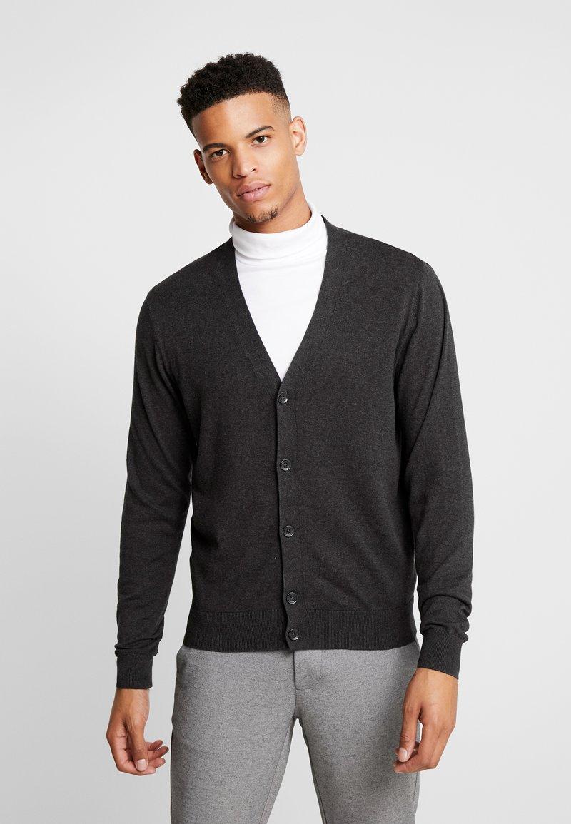 Burton Menswear London - CORE CARDIGAN - Kardigan - dark grey