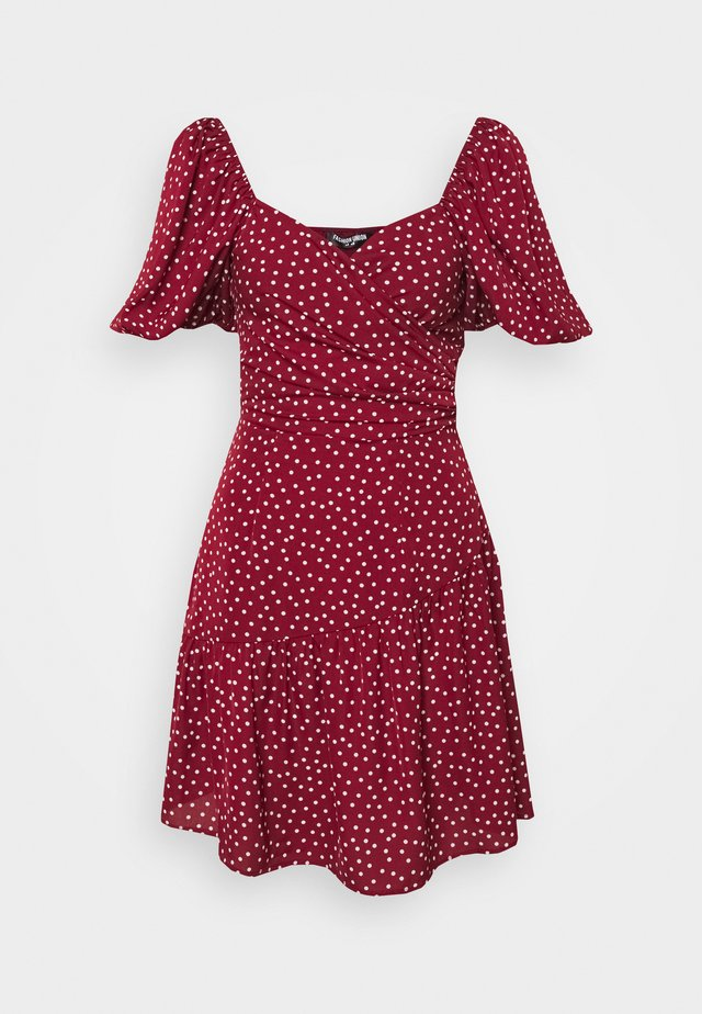 CUTIE - Day dress - burgundy