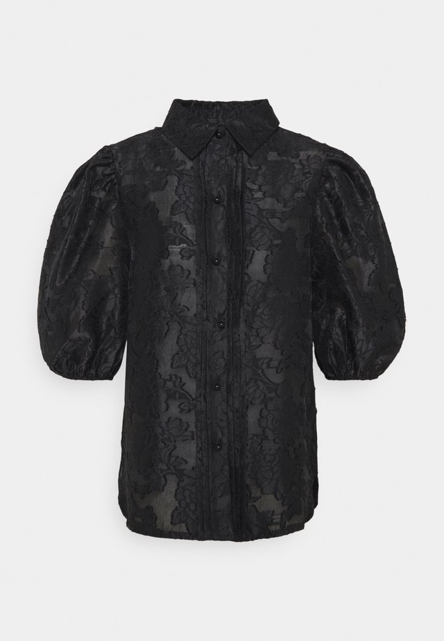 CHA CHA PUFF SLEEVE BLOUSE - Blouse - black