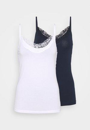 VMINGE SINGLET 2 PACK  - Top - navy blazer/bright white