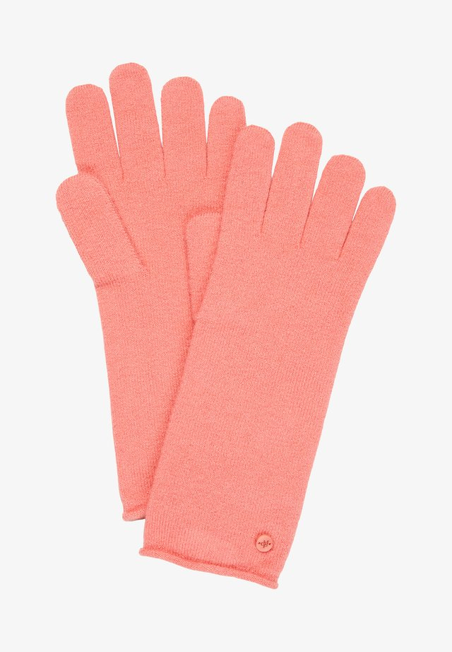 Gloves - hazy peach