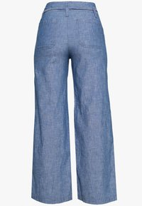 GAP - WIDE LEG CHAMBRAY - Pantalones - indigo - 1