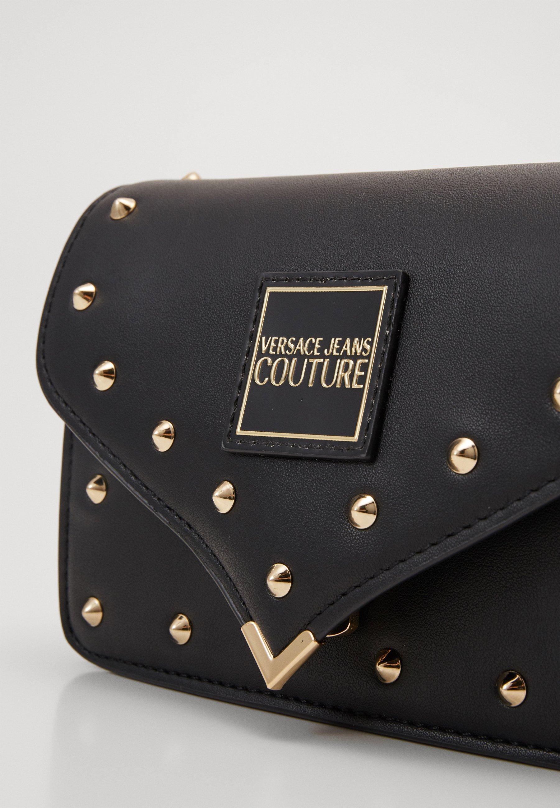 Versace Jeans Couture Mini Crossbody Studded - Umhängetasche Nero/oro/mehrfarbig