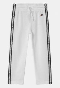 Champion - SLIM UNISEX - Pantalones deportivos - white - 0