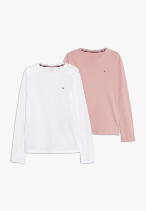 TEE 2 PACK - Aluspaita - white/light pink