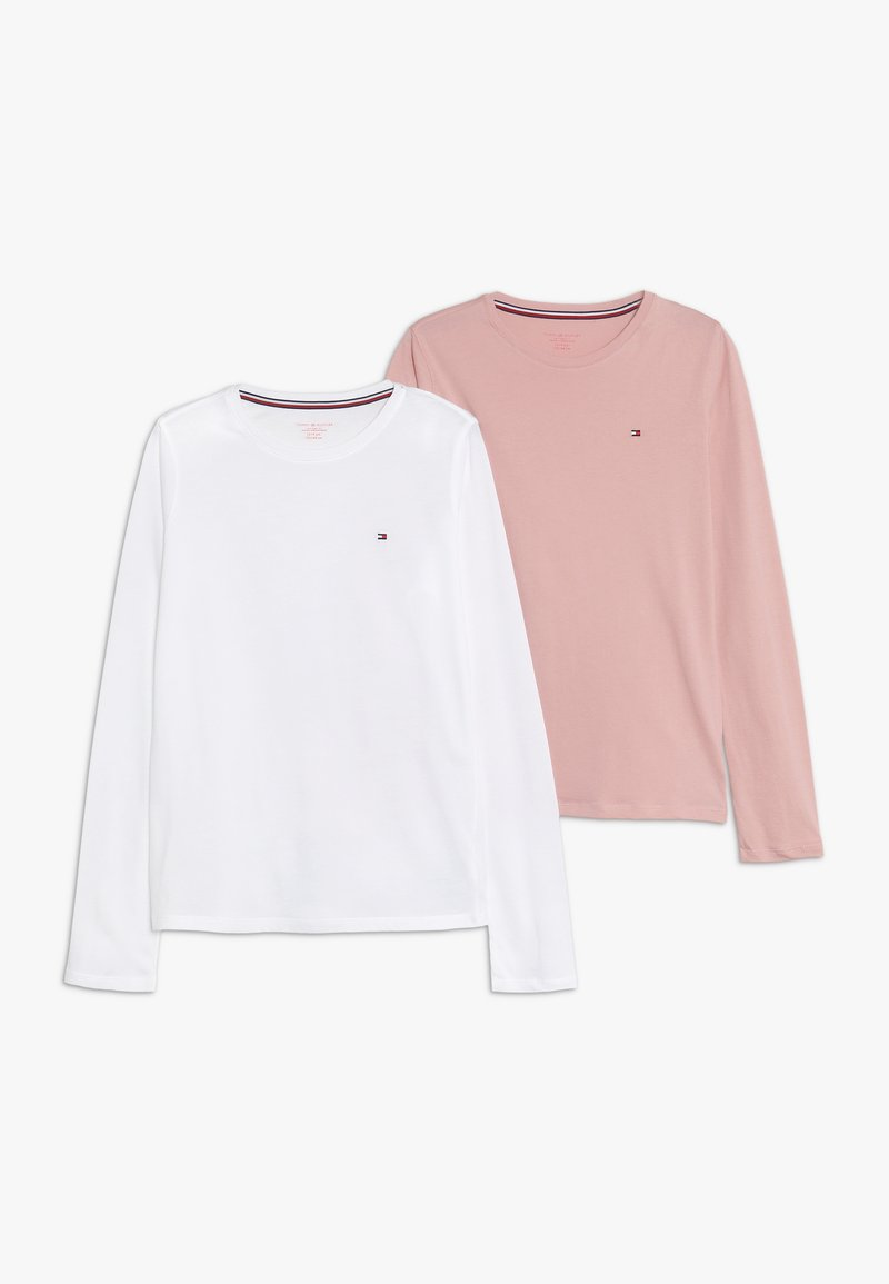 Tommy Hilfiger - TEE 2 PACK - Tílko - white/light pink