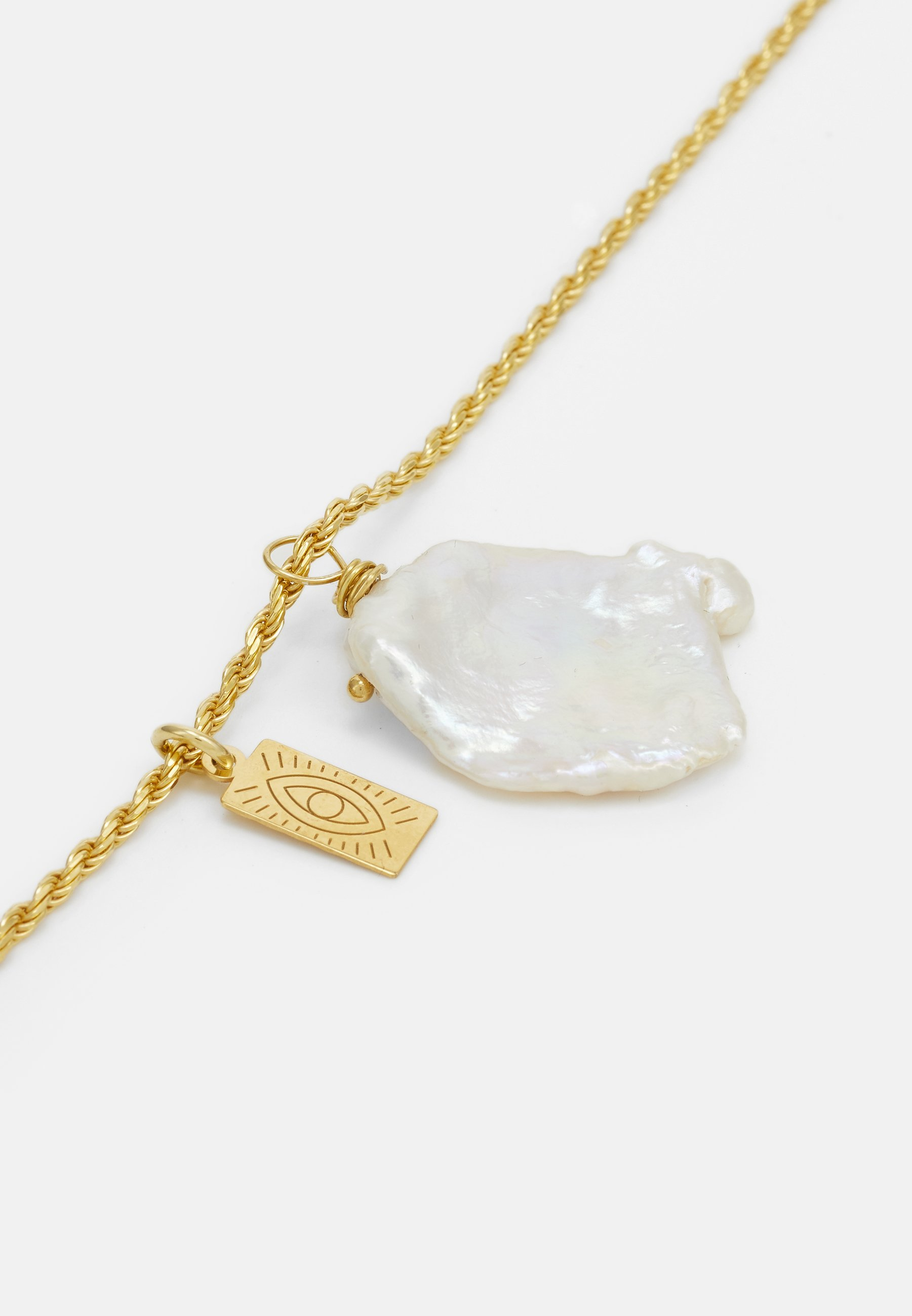 Hermina Athens Galini Pearl Pendant - Halskette Gold-coloured/gold