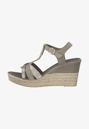 Wedge sandals - salvia comb