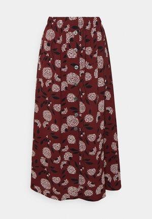 ONLNOVA LUX BUTTON SKIRT - A-line skirt - port royale/white