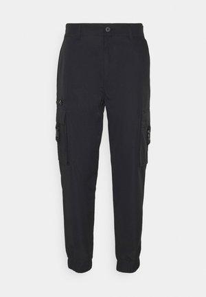 LAGUNA - Pantalon cargo - black