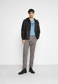 TOM TAILOR - STRUCTURE  - Trousers - castlerock grey - 1