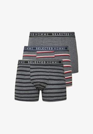 3 PACK - Pants - medium grey melange