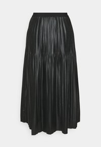 Esqualo - SKIRT - Pleated skirt - black - 1