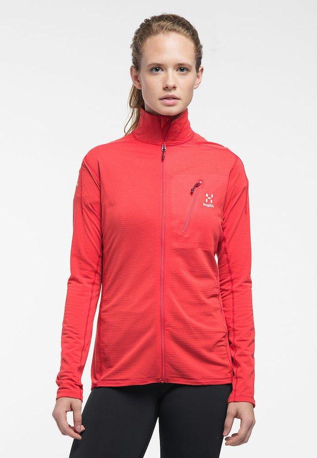 L.I.M MID JACKET - Fleece jacket - hibiscus red